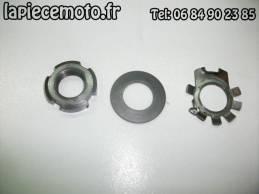 Ecrou + rondelle + rondelle frein de centrifugeur d'huile HONDA 250 XL