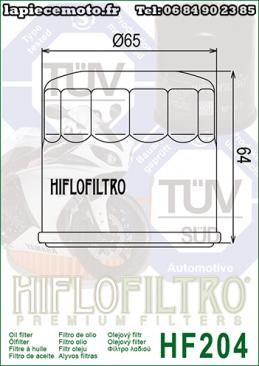Filtre à huile Hfilofiltro HF204