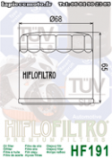 Filtre à huile Hfilofiltro HF191