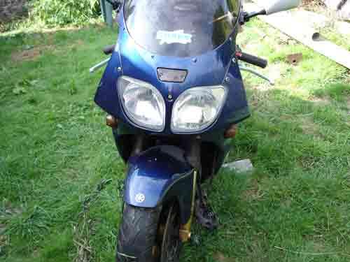 moto en cours de demontage