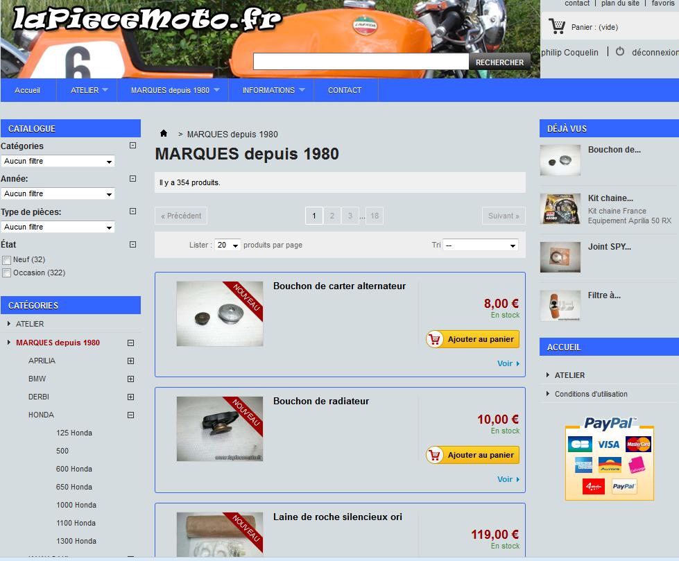 ancienne presentation graphique du site lapiecemooto.fr