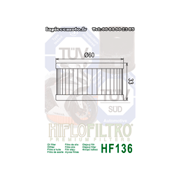 Filtre à huile Hiflofiltro HF136